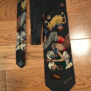 Norman Rockwell inspired 100% silk tie Canadian md